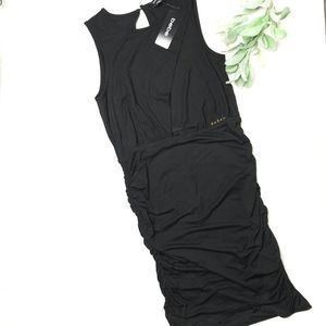 BEBE | sz M NWT black keyhole front dress